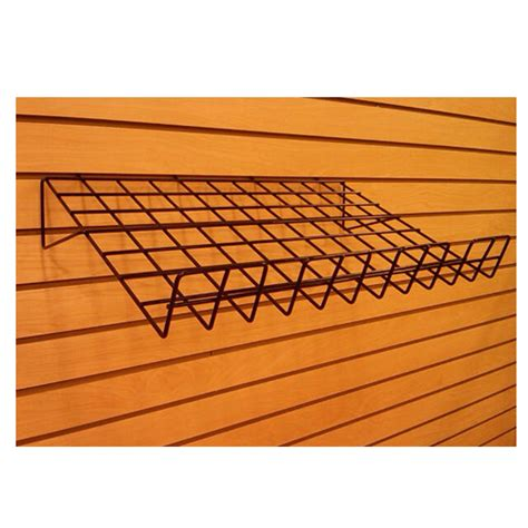 slatwall wire angled shelf discount shelving