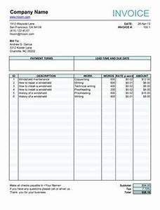 free fillable invoice form free invoice templates With fillable invoice word