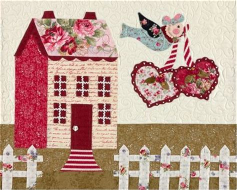 shabby fabrics sweetheart houses sweetheart houses block 5 kit please note this kit is for block 5 only block 5 of