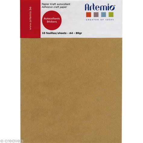 autocollant pour cuisine papier kraft adhésif a4 10 feuilles bloc papier a4