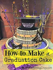 Congrats Grad Poster How To Create A Graduation Cake Using Items Mainly From