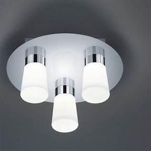 Ip44 Leuchten Badezimmer : led badezimmer deckenleuchte ip44 in chrom gl nzend ~ Michelbontemps.com Haus und Dekorationen