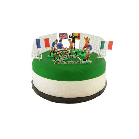 kit decor gateau football decor patisserie cerf dellier