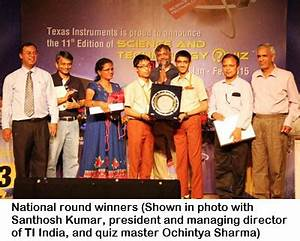 TI India quiz sparks passion for science with students ...