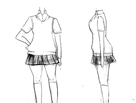 menggambar seragam manga cewek lengkap mayagami