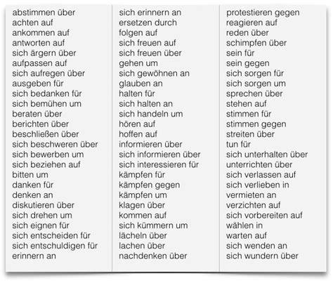 verben mit praepositionen beste tipps zum deutsch lernen
