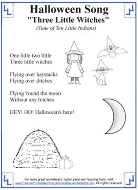 halloween songs  kids printable lyrics  coloring