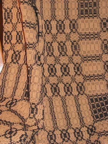 primitive black  mustard woven coverlet throw
