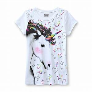 Route 66 Girls' Glitter T-Shirt - Unicorn - Clothing