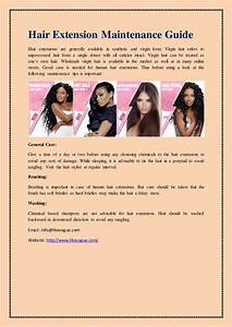Hair Extension Maintenance Guide