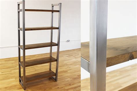 Vintage Industrial Bookcase by Industrial Bookcase Oak And Steel Ltd