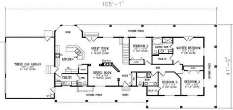 bedroom house floor plans  bedroom ranch house floor