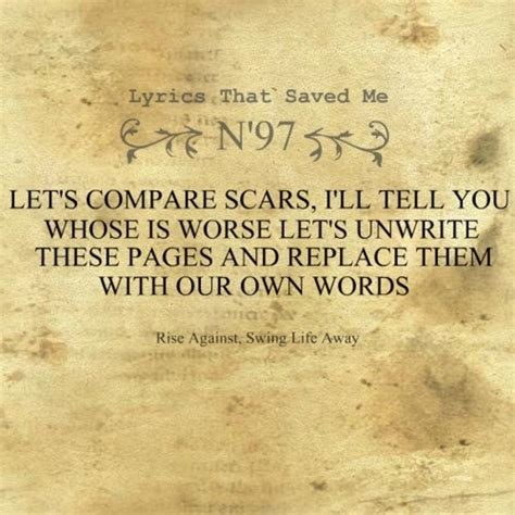 Rise Against Swing Away by Swing Away Rise Against Song Lyrics