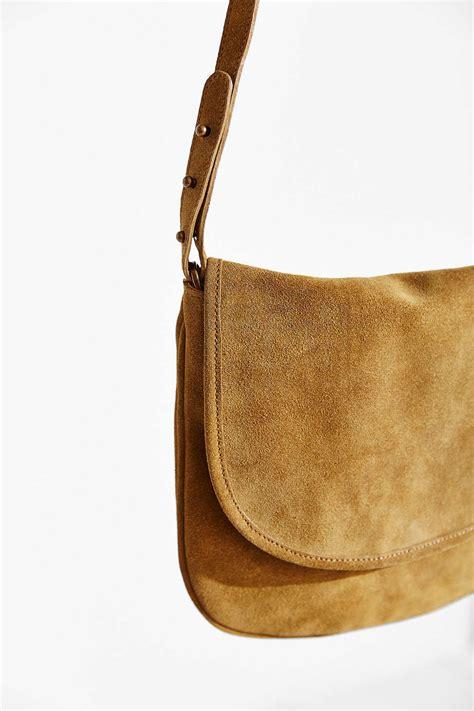 lyst bdg minimalist suede crossbody bag  green