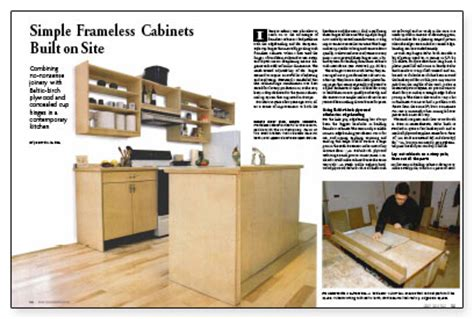 building frameless kitchen cabinets simple frameless cabinets built on site homebuilding 4972