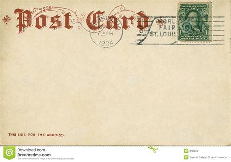 Vintage Postcard Template Photoshop Wallpaper Vintage Postcard 1904 Stock Photo Image Of Parchment