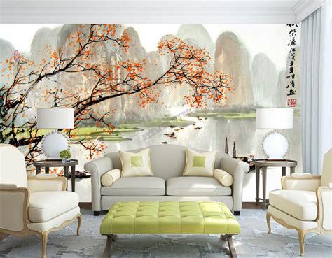 tapisserie numerique sur mesure style chinois paysage