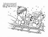Coloring Pages Macaroni Sledding Kid Elbow Pasta Snow Fun Colouring Weekly Activities Local sketch template