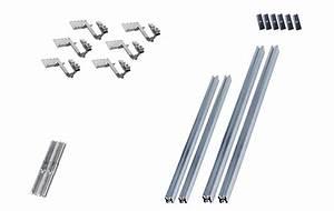 Fixation Panneau Solaire : kit de fixation pour 2 panneaux solaires toiture tuile ~ Dallasstarsshop.com Idées de Décoration