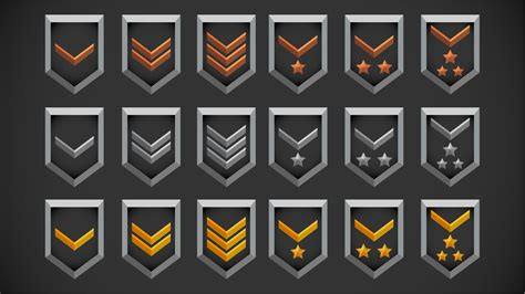 fps ranks icons  roman stets   assets ue marketplace