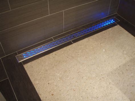 kohler shower pan drain cover water activated led shower drain contemporary bathroom