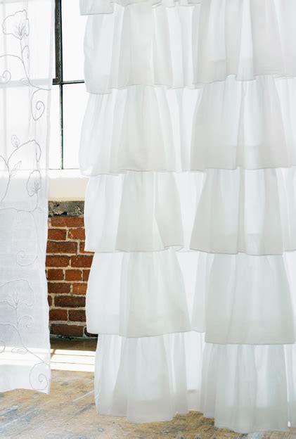 white ruffle shower curtain india shop white shower curtain