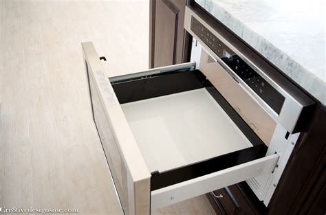 bosch drawer microwave kitchen remodel using lowes cabinets cre8tive designs inc