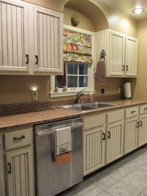 country beadboard kitchen cabinets diy beadboard kitchen cabinets glazed cabinets kitchen