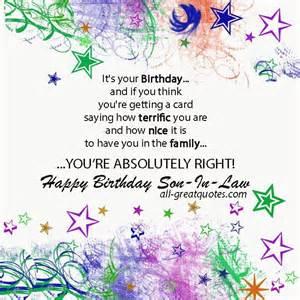 Free Happy Birthday Son in Law
