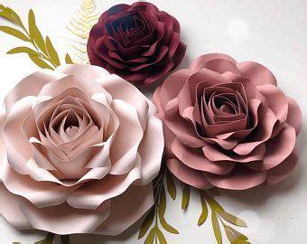 paper flower template   svg blue rose