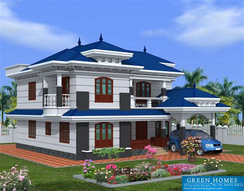 Green Homes Beautiful Kerala Home Design2222sqfeet
