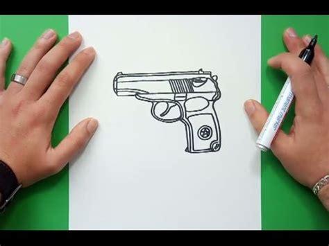 Tutorial de dibujo de una pistola para niños. Como dibujar una pistola paso a paso 3 | How to draw a gun 3 - YouTube