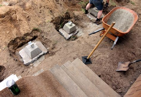 Precast Concrete Deck Footings Home Depot by Deck Progress Chezerbey