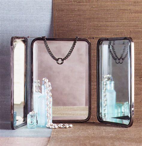 3 way vanity mirror tri fold vanity mirror small 3 way folding mirror