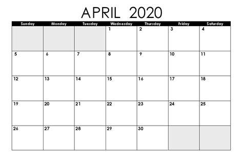 printable april calendar pata sauti