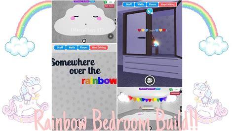 rainbow teen bedroom adopt  building hacks roblox
