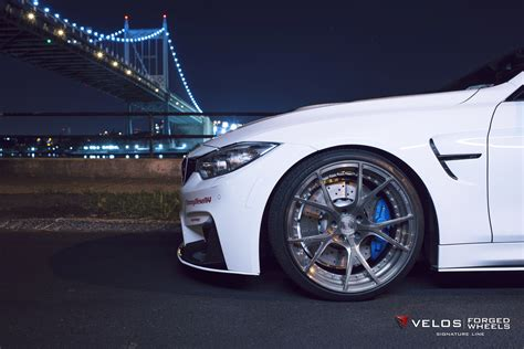alpine white bmw   velos  forged wheels