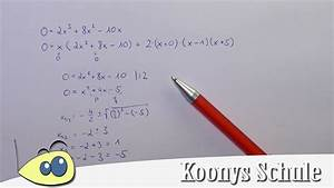 Nullstellen Berechnen Pq Formel : nullstellen von f x 2x 8x 10x bestimmen x ausklammern und pq formel anwenden youtube ~ Themetempest.com Abrechnung