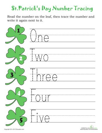 trace st patrick s day numbers st pat s day