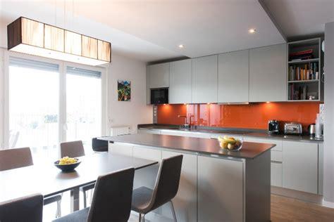 bureau mat cuisine ged cucine avec grand îlot central