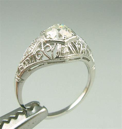 gold deco engagement rings vintage estate engagement rings wedding promise