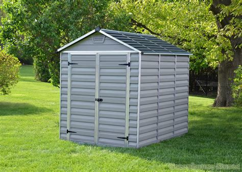 6x8 plastic storage shed palram 6x8 plastic skylight grey shed greenhouse stores