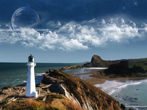 Animated Lighthouse Wallpaper - 壁纸1600 215 1200电脑合成风景 digital landscape photo manipulation