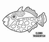 Triggerfish Clown Coloring Trigger Fish Cartoon Illustrations Clipart Boek Kleurend Clip Children Vectors Illustratie sketch template