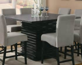 contemporary formal dining room with sturdy black colored