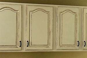 antique white kitchen cabinets for shabby chic style With painting cabinets white antique look
