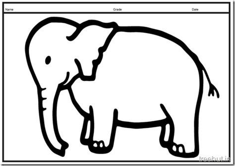 size printable elephant coloring pages  kids