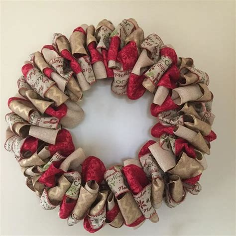christmas ribbon wreath burlap pinterest
