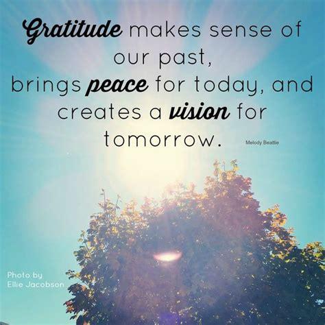 gratitude  sense    brings peace  today