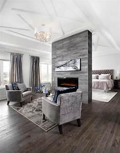 15 exemples dune belle chambre avec cheminee aux With meubles pour petits espaces 13 design interieur agreable et moderne pour cette jolie
